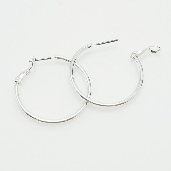 "73057_Silver, hoop earring (1"")"