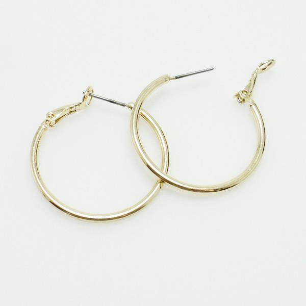 "73057_Gold, hoop earring (1"")"