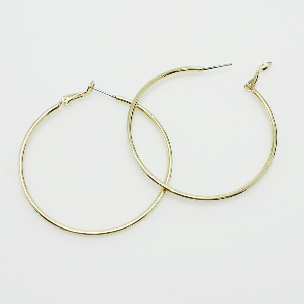 "73074_Gold, hoop earring (2"")"