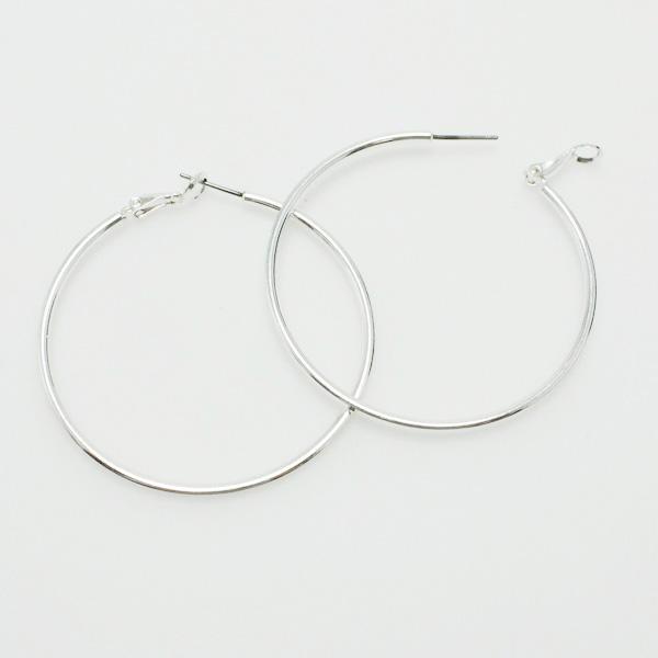 "73074_Silver, hoop earring (2"")"