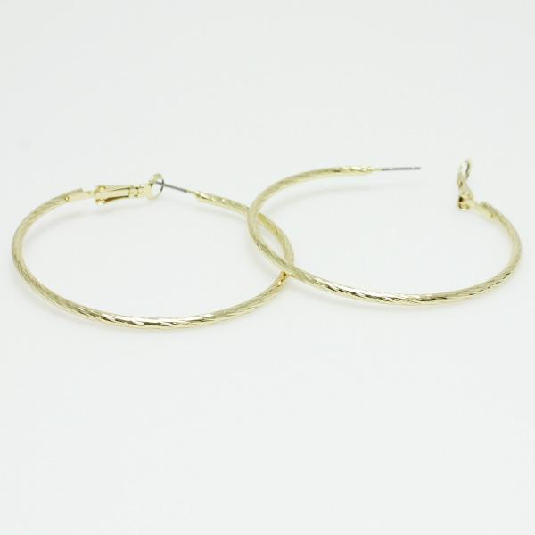 "74781_Gold, hypo allergenic hoop earring 2"""