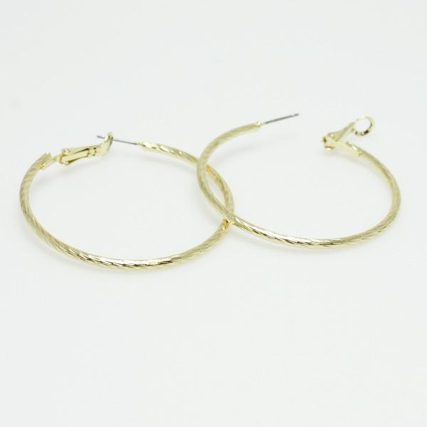 "74782_Gold, hypo allergenic hoop earring 1.5"""