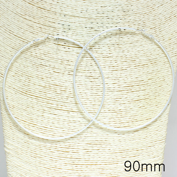 79980_Worn Silver, round hoop earring