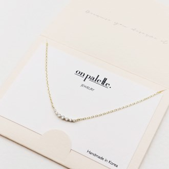 87719_Gold/Clear, dainty pave rhinestone necklace
