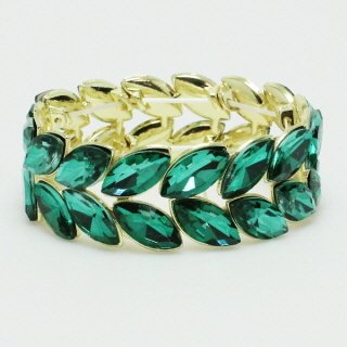 73771_Gold/Green, rhinestone bracelet