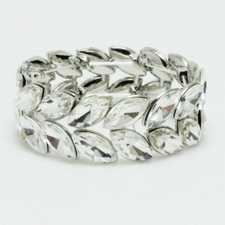 73771_Silver/Clear, rhinestone bracelet