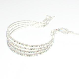 79888_Silver/AB, rhinestone cuff bracelet